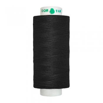 Цвет 200 (черные) нитки Dor Tak №40/2 365м