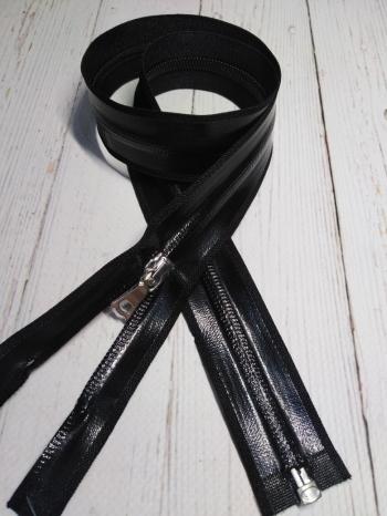 Молния Riri Спираль Т-7, черный лак