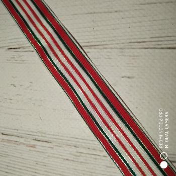 ТЕСЬМА  «Полосы» зелёный,белый,красный