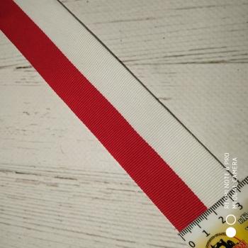Тесьма  полосы «Красный,белый» метр