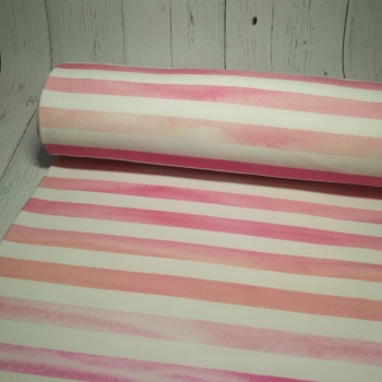 Кулирная гладь с лайкрой Розовая полоса узкая