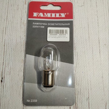 Лампочка осветительная Family 220V/15w