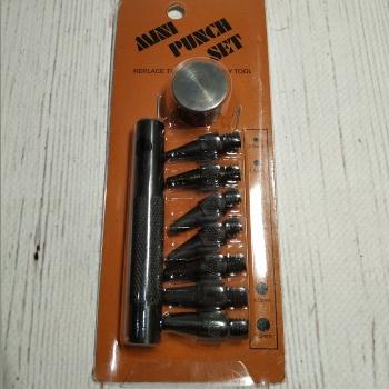 Ручной пробойник с насадками 2.0, 2.5, 3.0, 3.5, 4.0, 4.5, 5.0 мм