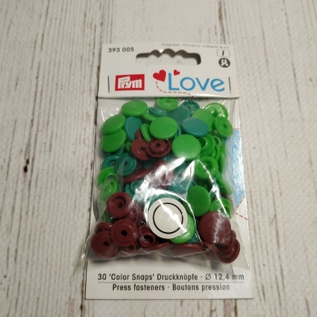 Кнопки COLOR SHAPS круглые 12.4мм зеленый, коричневый 393 005