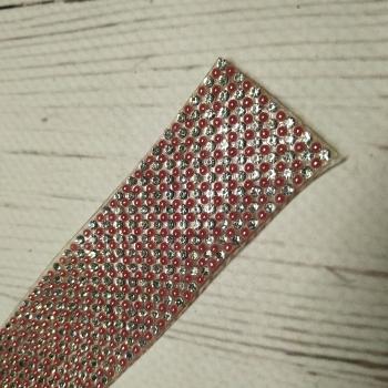 Стразы полотно код 36288 «КРАСНЫЙ ГОРОХ» цена за 1 см. ширина и 40 см. длина