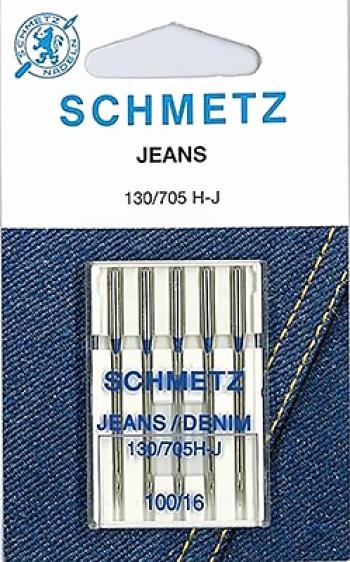 Иглы для джинсы №100 Schmetz 130/705H-J 5 шт