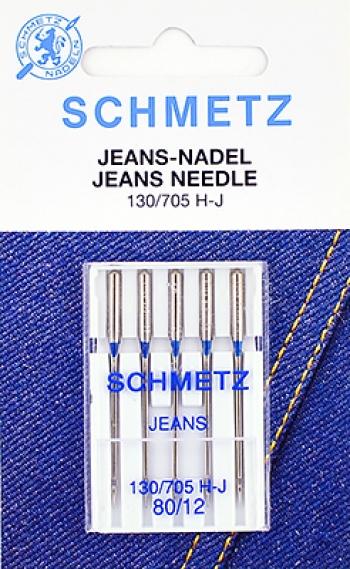 Иглы для джинсы №80 Schmetz 130/705H-J 5 шт