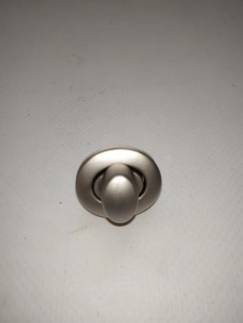 Застежка поворотная матовый, никель 28*24мм