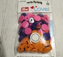 Кнопки COLOR SHAPS Круглые 12.4 мм розовый, оранжевый 393 006