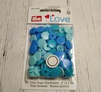 Кнопки COLOR SHAPS круглые 12.4 мм синий, голубой 393 000
