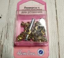 Люверсы 5 мм с инструментом для установки золото 435.G