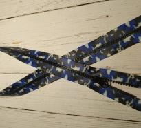 Молния  «АКУЛИЙ ЗУБ» Т-5,трактор,  Милитари(синий) , длина -70 см, код 17070