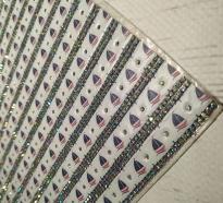 Стразы полотно код 36285 « КОРАБЛИК»  цена за 1 см. ширина и 40 см. длина